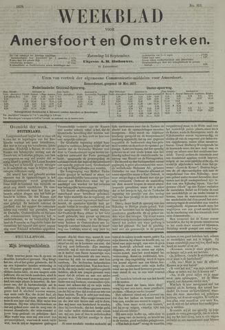 Weekblad voor Amersfoort en Omstreken 1878-09-14