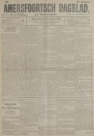 Amersfoortsch Dagblad / De Eemlander 1916-11-16