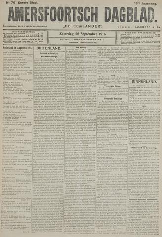 Amersfoortsch Dagblad / De Eemlander 1914-09-26