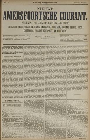 Nieuwe Amersfoortsche Courant 1884-09-10