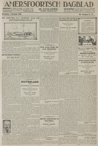 Amersfoortsch Dagblad / De Eemlander 1929-11-07