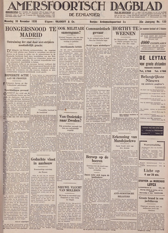 Amersfoortsch Dagblad / De Eemlander 1936-11-30
