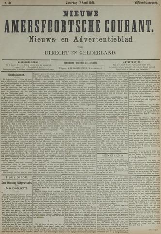 Nieuwe Amersfoortsche Courant 1886-04-17