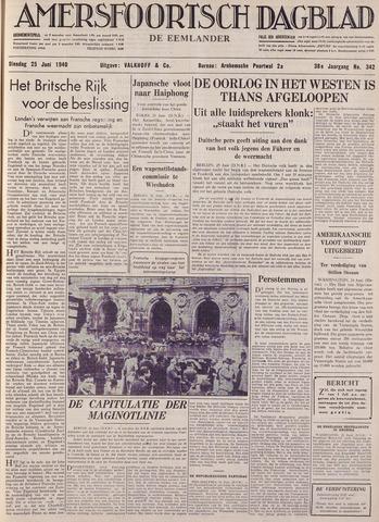 Amersfoortsch Dagblad / De Eemlander 1940-06-25