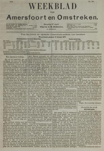 Weekblad voor Amersfoort en Omstreken 1878-04-27
