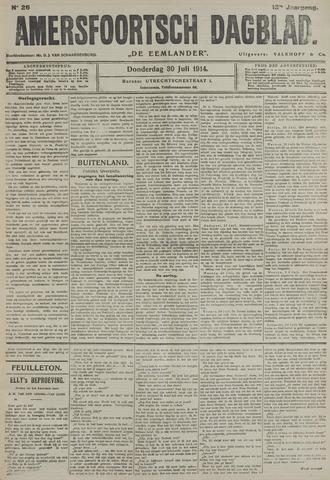Amersfoortsch Dagblad / De Eemlander 1914-07-30