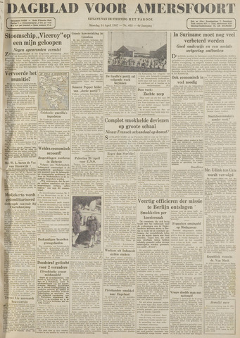 Dagblad voor Amersfoort 1947-04-14