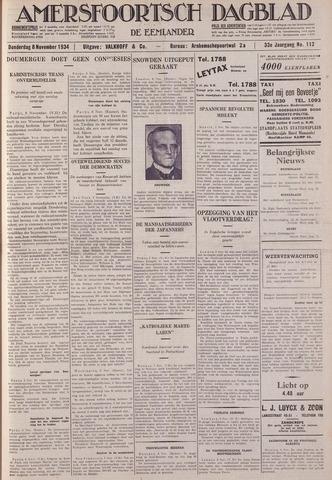 Amersfoortsch Dagblad / De Eemlander 1934-11-08