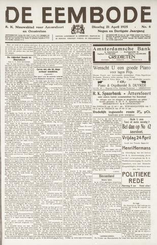 De Eembode 1925-04-21