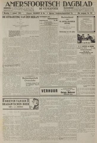 Amersfoortsch Dagblad / De Eemlander 1931-01-05