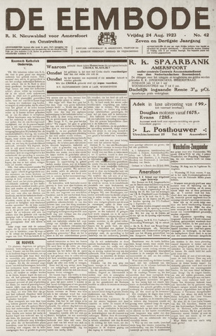 De Eembode 1923-08-24