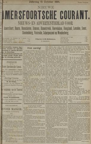 Nieuwe Amersfoortsche Courant 1881-10-15