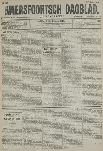 Amersfoortsch Dagblad / De Eemlander 1915-09-03