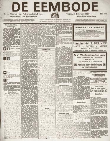 De Eembode 1927-02-01