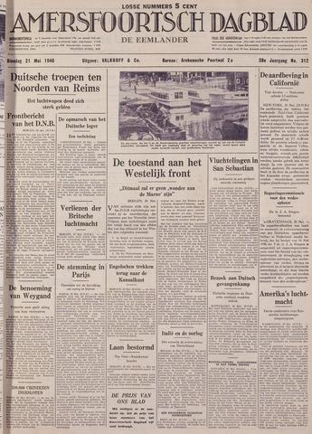 Amersfoortsch Dagblad / De Eemlander 1940-05-21