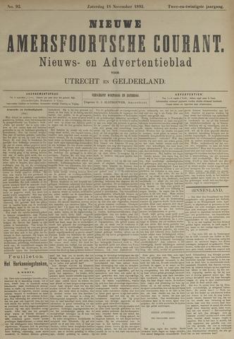 Nieuwe Amersfoortsche Courant 1893-11-18