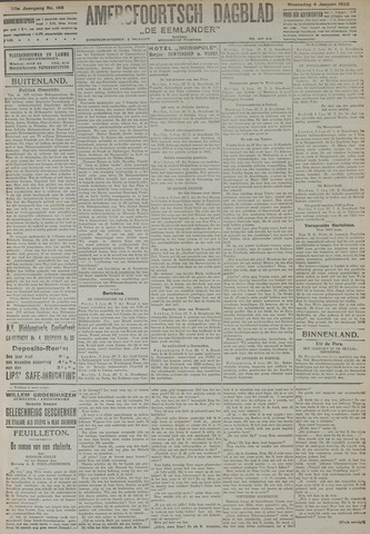 Amersfoortsch Dagblad / De Eemlander 1922-01-04