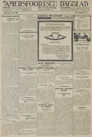 Amersfoortsch Dagblad / De Eemlander 1929-07-03