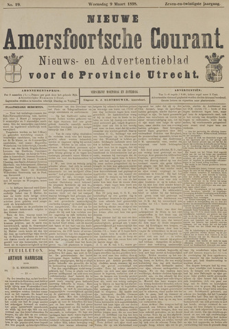 Nieuwe Amersfoortsche Courant 1898-03-09