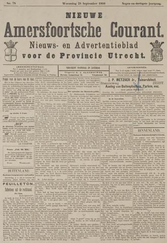 Nieuwe Amersfoortsche Courant 1910-09-28