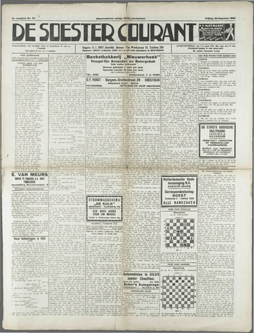 Soester Courant 1930-08-22