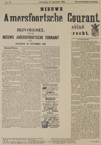 Nieuwe Amersfoortsche Courant 1905-09-27