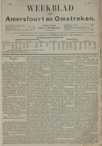 Weekblad voor Amersfoort en Omstreken 1878-01-04