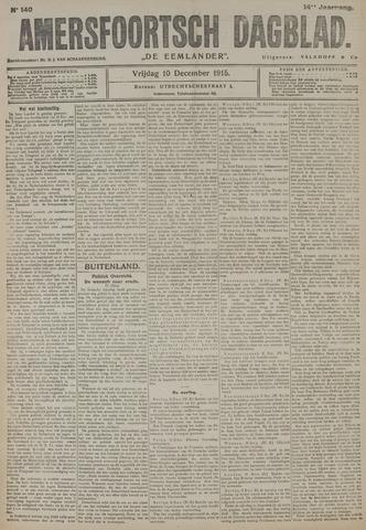 Amersfoortsch Dagblad / De Eemlander 1915-12-10