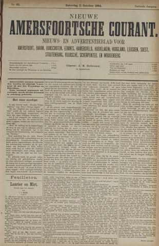 Nieuwe Amersfoortsche Courant 1884-10-11