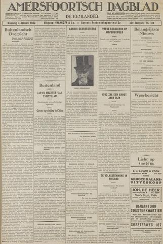 Amersfoortsch Dagblad / De Eemlander 1932-01-04