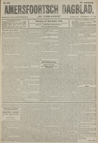 Amersfoortsch Dagblad / De Eemlander 1913-12-16