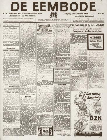 De Eembode 1926-10-29