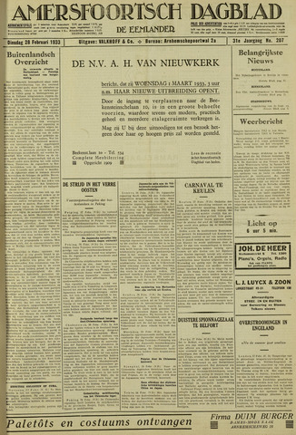 Amersfoortsch Dagblad / De Eemlander 1933-02-28
