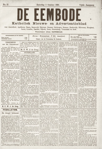 De Eembode 1891-10-03