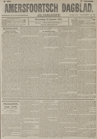 Amersfoortsch Dagblad / De Eemlander 1913-01-22
