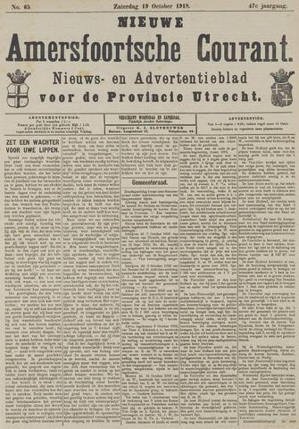 Nieuwe Amersfoortsche Courant 1918-10-19