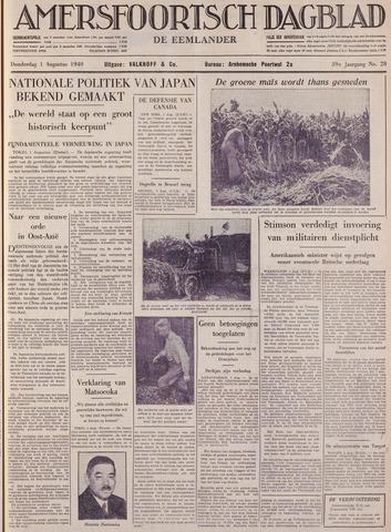 Amersfoortsch Dagblad / De Eemlander 1940-08-01