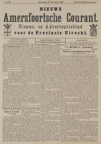 Nieuwe Amersfoortsche Courant 1909-11-10