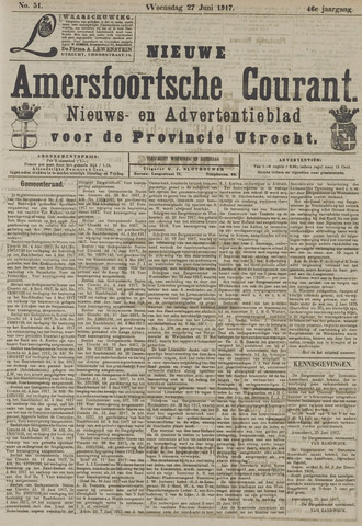 Nieuwe Amersfoortsche Courant 1917-06-27