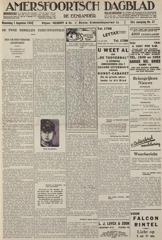 Amersfoortsch Dagblad / De Eemlander 1934-08-01