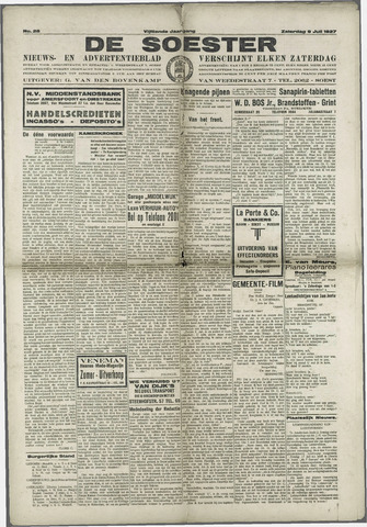 Soester Courant 1927-07-09
