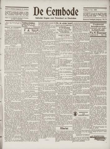 De Eembode 1933-10-06
