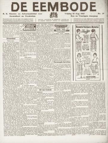 De Eembode 1927-08-12
