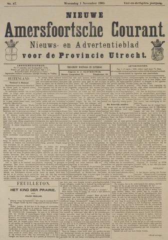 Nieuwe Amersfoortsche Courant 1905-11-01