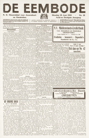 De Eembode 1924-06-10