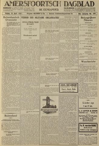 Amersfoortsch Dagblad / De Eemlander 1932-04-15