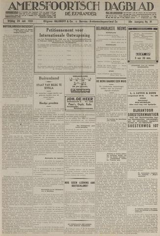 Amersfoortsch Dagblad / De Eemlander 1931-07-24