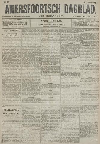 Amersfoortsch Dagblad / De Eemlander 1914-07-17