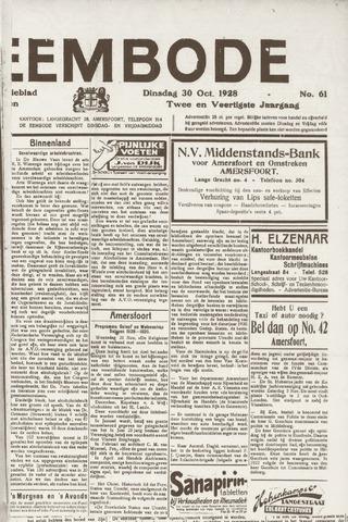 De Eembode 1928-10-30