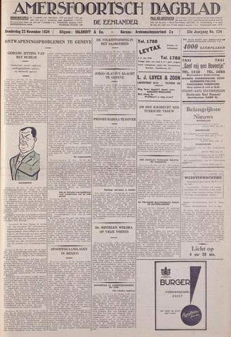 Amersfoortsch Dagblad / De Eemlander 1934-11-22